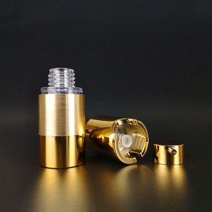 15 ㎖ 30ML 50ML 80ml를 100ml의 에어리스 펌프 플라스틱 병 핫 스탬프 골드 크림 용기 정유 서브 병 ZZF2385