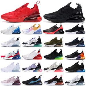 2021 New 270 running shoes triple black white red women men Chaussures Bred Be True BARELY ROSE mens trainers Outdoor Sports Sneakers Shoe