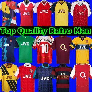 1990 1992 Highbury Home Football Shirt Jersey Soccer Pires Henry Reyes 2002 Retro Jersey 2005 98 99 Bergkamp 94 95 Adams Persie 96 97 Galla