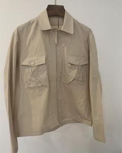 2021 Nueva 19SS 103F2 FANTASMA PIEZA Sobrecamisa el algodón de nylon TELA moda camisa de los hombres de las mujeres capa de la chaqueta del tamaño M-3XL
