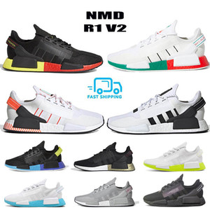 Core Black White NMD R1 V2 Mens Running Shoes Mexico City Oreo OG Classic Aqua Tones Metallic Gold Men Women Sports Sneakers