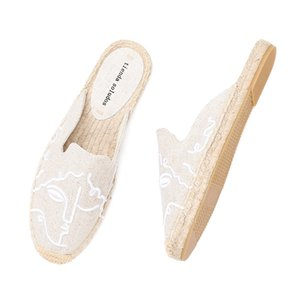 Tienda Soludos Espadrilles Slippers For For Flat Real Special Offer Hemp Summer Rubber Print Woman Shoes Mules Pantufa Y200624
