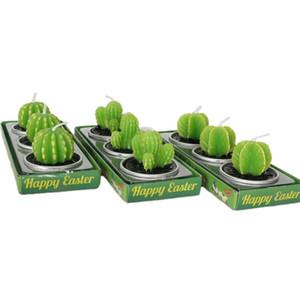 Fiesta de la boda creativo cumpleaños Plant Simulation Vela Habitación Sala de decoración Cactus Multi-carne Vela regalo 3pcs / set