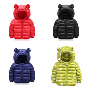 Enfants Down Hoodies Coatings Coton Clipper Zipper Nouvelle Technologie à manches longues Toddler Bébé Baby Baby Girlet Jacket Jacket de neige