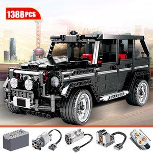 Hipac 1388pcs Città Creator AWD Wagon Building Blocks auto per mattoncini tecnici RC non-RC Auto Fuoristrada MOV blocchi Istruzione giocattoli per i bambini 1008