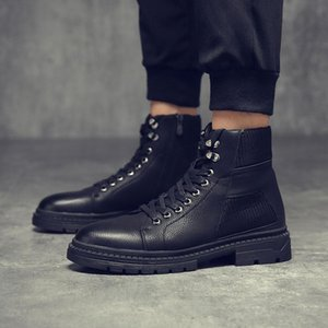 Yomior Mode Automne Hiver Hommes Bottes Casual Zipper Noir formel de base Zapatos Hombre cheville Sneakers