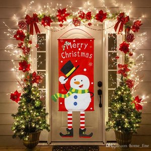 Home Decorations Porch Door Banner Hanging Ornament Christmas Decoration For Home Xmas Navidad 2020 Happy New Year 2021