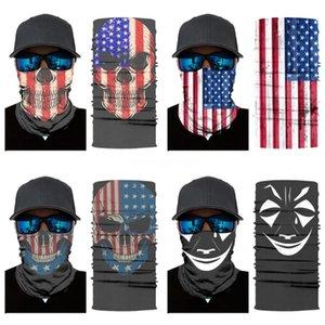 Дышащих Балаклавы шелкового шарф езды Бандан Triangle печать Маска Половина лицо Череп Ice OWam9 маска Многофункционального Солнцезащитный Магия S BFSR