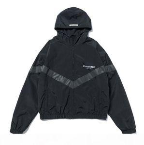 FG 19SS Fear Of God FOG ESSENTIALS 3M Reflective Windbreaker Hooded Jackets Men Women Casual Street Hip Hop Coat Fashion Outwear