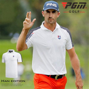 PGM Sportswear Competition Suit Summer Golf T-shirt Breathable Polo Shirt T-shirt Men Golf T-shirt Men Short-sleeved Shirt Golf Apparel