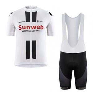 2020 pro team sunweb LTD italia cuff laser cut sleeve cycling jersey set mens quick dry summer MTB Ropa Ciclismo Bicycle maillot