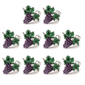 10Pcs Western Fruit Napkin Buckle Grape Napkin Ring Holder Metal Mouth Cloth Ring Tableware1