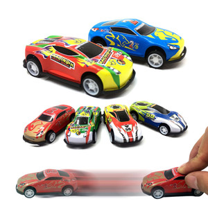 Children Mini Pull Back Car Toys Baby Cartoon Racing Bus Car Model Educational Simulation Vehicle Toy For Boys Gifts