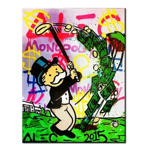 MR BRAINWASH ALEC MONOPOLY GRAFFITY Home Decor Handpainted &HD Print Oil Painting On Canvas Wall Art Canvas Pictures For Living Room 201008