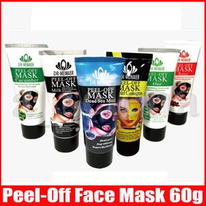 6 estilos rosto descascar máscara facial leite ouro colágeno limpeza 60g cravo removedor morto mar lama rosa aloe máscara facial