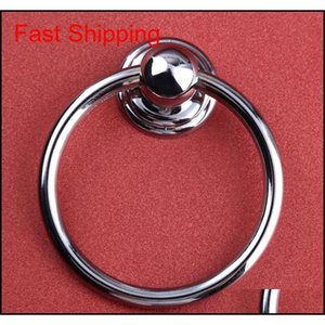 Diameter 70mm Modern Simple Shiny Silver Drop Rings Wooden Chair Wooden Door Handles Chrome Kitchen Cabinet D qylxcj toys2010