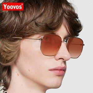 Yoovos Legierung Sonnenbrille Männer Retro Designer Sonnenbrille Frauen BrillenVintage Spiegel Gafas de Sol de Los Hombres1