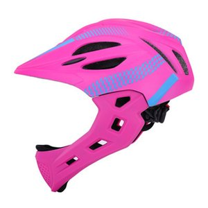 Unisex Cycling With Rear Light Balance Riding Children Protective Detachable Bike Bicycle Helmet Full Face Safe Chin Outdoor