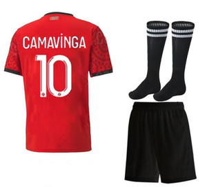 2020 2021 Stade Rennais Comavinga Soccer Jersey 20 21 Niang Terrier Bourigeaud Raphinha Mailleot De Foot Men and Kids Kit