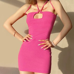TU04 robes bustier sexy 2020 profondes femmes cou cm vesticules fitness taille haute taille nuit club mini tenues butin Vestidos