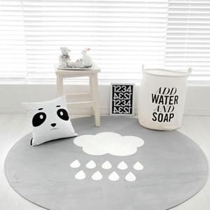 Gray Weather Round Carpet Porch Bedroom Door Mat Home Blanket Floor Bathroom Slip Wear Pad Kitchen Window Mat