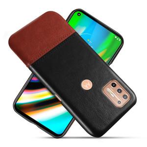 Caja del teléfono para el caso de cuero MOTO G9 Plus en Para Motorola E6 Plus G8