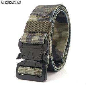 Airgracias Armée nylon Ceinture pour hommes Ceintures de combat de camouflage militaire tactique de survie Sangle
