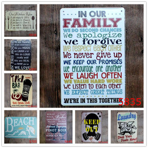 English Poetry Romantic Sign Vintage Tin Signs Home Decoration Bar English Poetry Metal Craft Gifts Poster Iron Painting DHB1323