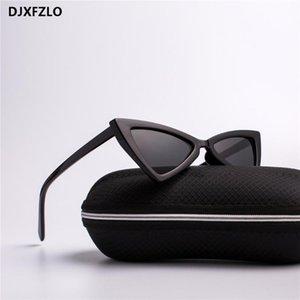 Djxfzlo moda retro gafas de sol damas moda gato ojo diseñador gafas de sol retro gafas negras oculos