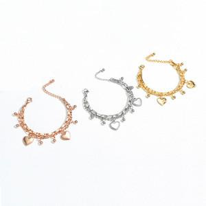 여자 팔찌 골드 하트 반짝이 크리스탈 스톤 체인 쥬얼리 여성을위한 accesorioss 쥬얼리 11 스타일