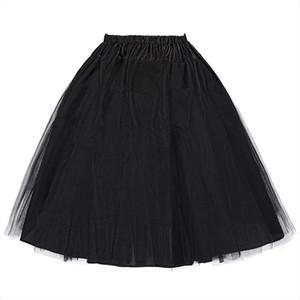 Women red black purple green Vintage skirt mini Crinoline Petticoat Underskirt Two Layers tulle skirt gonna tulle