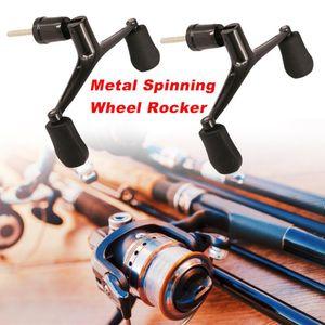 Rotary metal wheel rock double handle rocker with rotary nut rotary wheel