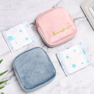 Tampon Storage Bag Sanitary Pad Pouch Women Napkin Cosmetic Bags Organizer Ladies Makeup Bag Girls Tampon Holder Organizer Gifts