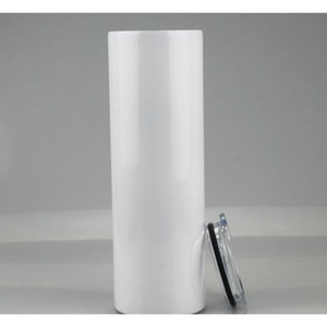 20oz 30oz Blank Sublimation Straight Tumblers Stainless Steel Blank White Skinny Cup With Lid And Plastic Straw Sea bbyeuy bdesports