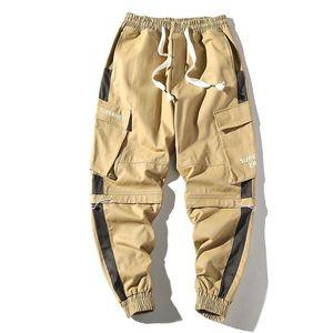 Casual Trend Сыпучие Multi-карманный Beam Ноги Брюки Комбинезоны для мужчин