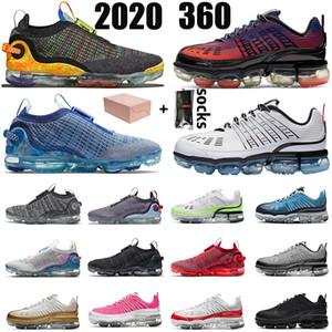 Nike Air VaporMax 360 2020 erkekler kadınlarmaksimumairmax Varsity Kraliyet lazer mavi zirve eğitmenler spor ayakkabısı rayları mens