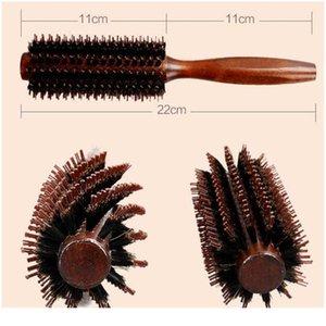 6 Typen gerade Twill Hair Kamm Natural Eber Borst Rolling Pinsel Runde Fass Blasen Curling DIY Friseurstyl Wmtwjw