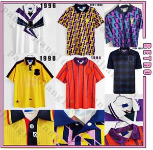 Schottland 1991 1993 1994 1995 1996 1998 Retro-Fußball-Jersey-Weltcup-Ausrüstung Classic Vintage Scotland Retro Football Hemd Tops