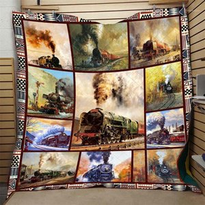 3D Train Quilt Vintage Classic Comfortable High End Kids School Adults Bed Summer Autumn Quilt Hot Selling Dropshipping1