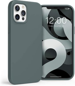 Boomdio Liquid Silicone Case for iPhone 12   iPhone 12 Pro (2020 Release) Full Body Protective Case (with Soft Microfiber Lining) Compatible
