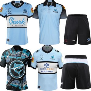 Новые 2020 2021 Cronulla-Saterland Sharks Blue Rugby Jersey 19 20 21 Джерси для коренного джерси NRL NRL Лига регби Австралия акула Maillot de r