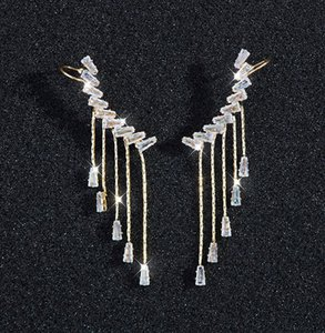 New 2020 Design Of clip on Tassel Earrings European And American Style Diamond Bee Long Tassel Earrings