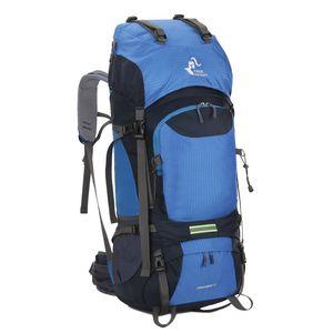 Neue 60L Outdoor-Rucksack Camping Tasche Wasserdichte Bergsteigen Wandern Rucksäcke Molle Sporttasche Climbing Rucksack Fahrradtaschen T200622