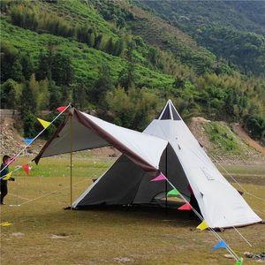 Pyramid Tent Caulter Anti-Rainstorm Открытый Кемпинг Палатка Yurt Многофункциональный Укрытие Только включают внешнюю оболочку