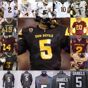 2020 Özel Arizona State ASU Futbol Jersey NCAA Kolej 1 DeaMonte Trayanum 3 Rachaad Beyaz 90 Jermayne Lole 41 Tyler Johnson