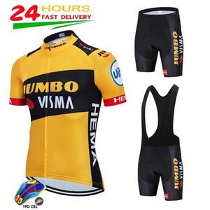 2020 Jumbo Visma Ciclismo Jersey Manga Curta Bicicleta Jersey 19D Shorts MTB Bicicleta Roupas Ropa Ciclismo Maillot Bike Wear C0123