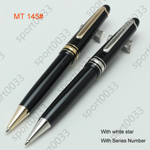 Metal 145, black resin and rollerball pen Ballpoint fountain pen office school supplies blanc pen provided with free shipping