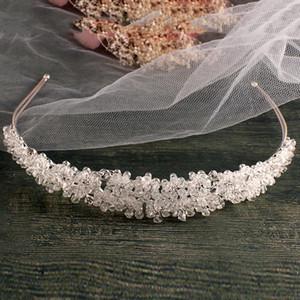 Handmade Silver color bridal headband full crystal bridal hairbands vintage wedding hair accessories bridal headpiece Prom Crown