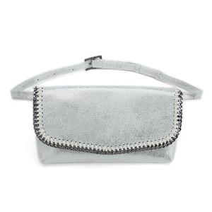 Challen Импорт ПВХ Женщины талии сумка 2020 двойного использования Фанни талии обновления сумка черного пояса серебряный Женский кошелек моды мешок