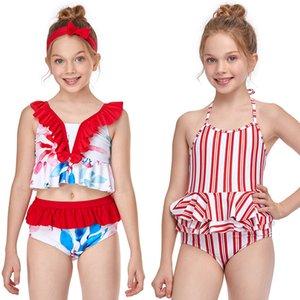 Maillots de bain Nouveaux enfants Fashion Fashion Plage Équipement Eau Sports roses Rose Rouge Rouge Violet One-Piece Cuisson Summer Natation